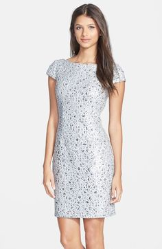 Hailey by Adrianna Papell Sequin Lace Sheath Dress available at #Nordstrom
