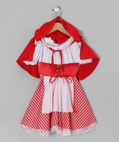 Red Lil' Red Riding Hood Dress-Up Outfit - Kids