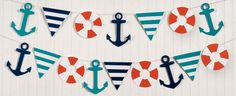 nautical paper plates | yet with a little help from our Nautical Garland Kit . This Paper ...