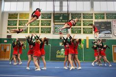 Whitman-Hanson High School cheerleaders