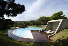 Provokative Modern Earth Home in the Heart of Sardinia's Emerald Coast