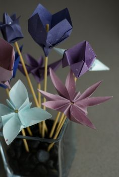 origami flowers.