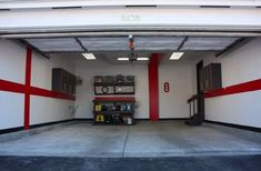 50 Garage Paint Ideas For Men - Masculine Wall Colors And Themes Garage Paint Colors, Wall Colors, Shop Interior Design, House Design, Garage Walls, Garage House, Buying A New Home, Shop Window Displays, New Homes
