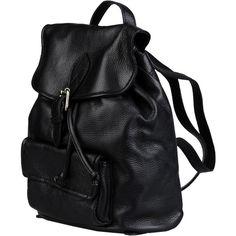 Doucal's Backpacks & Fanny Packs (965 BRL) ❤ liked on Polyvore featuring bags, backpacks, backpack, bolsas, mochila, black, drawstring backpack, leather belt bag, drawstring bag and leather fanny pack