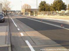 realizzazione viabilità in vernice bianca rifrangente - segnaletica stradale orizzontale