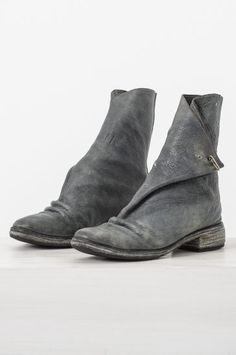 folded bison leather boot — re. porter