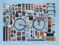 Handcrafted leather bike accessories