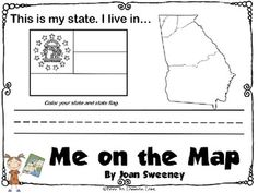 Me on the Map (Georgia) Flipbook - Door To Common Core - TeachersPayTeachers.com