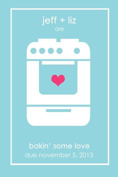 """baby announcement cards - """"bakin some love"""""""