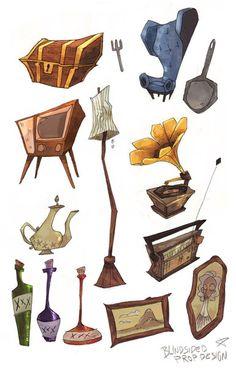 some props for my third year film whaddup Bg Design, Prop Design, Sketch Design, Sheridan Animation, Character Art, Character Design, Animation Background, Visual Development, 2d Art