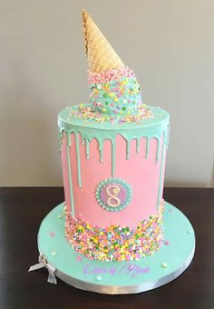Big Cake Ideas 40 Th Birthday Candy Cakes Girly 8th