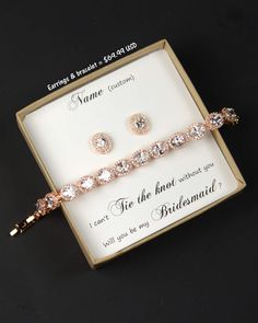 Rose Gold Bridesmaid Jewelry oval Crystal Bridal Bracelet Wedding Jewelry Bracelet silver Wedding Bracelet mother of the bride groom gift by thefabbridal3 on Etsy https://www.etsy.com/ca/listing/467626478/rose-gold-bridesmaid-jewelry-oval