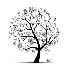 9478439-art-floral-tree-black-for-your-design.jpg (450×450)