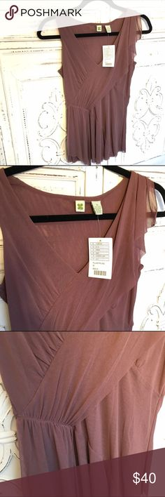 NWT Anthropologie Plum Sheer Mesh Tank Top Sheer mesh tank top with lots if whimsical details. Lots of angle pinned details of mesh. Great color and perfect with jeans or skirts. Deep V-neck. Left shoulder mesh detail. From a smoke free home. Anthropologie Tops Tank Tops