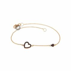 Ένα μοντέρνο πολύτιμο βραχιόλι από ροζ χρυσό Κ18 με ρουμπίνια στο πλαίσιο  της μεγάλης καρδιάς και 708dfc0e882