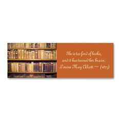 Bookstore business card template card templates bookstores and old booksquotation mini bookmark mini business card reheart Images