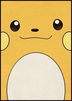 Raichu - Pikachu's evolution. Pokemon Poster Art Print by Jorden Tually Art | Society6