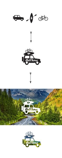 Logo design concept for travel blog