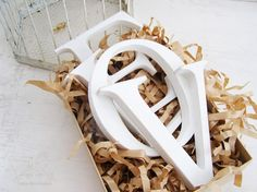 Wedding Gift Wood letters L  O  V  E  Wedding by cottonbirddesigns, £45.00