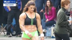 Danica Patrick Gets Mega-Buff for GoDaddy's Super Bowl Ad Photographers catch early peek of spokeswoman's muscle suit.