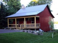 building a pole barn home metal pole barn homes pole barn home builders rare cosy metal barn w porch stone fireplace pictures metal a metal building pole barn home builders metal building a pole barn Metal Barn Homes, Pole Barn Homes, Pole Barns, Barn House Plans, Small House Plans, Barn Plans, Small Barn Home, Small Farm, Steel Building Homes