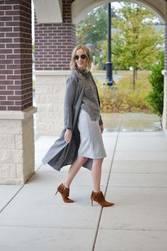 grey and grey outfit