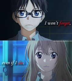 Shigatsu wa Kimi no Uso - quote Anime Qoutes, Manga Quotes, Your Lie In April, You Lied, Sad Quotes, Deep Quotes, Awesome Anime, April Quotes, Miyazono Kaori