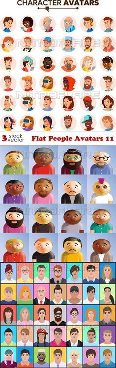 Flat People Avatars 11 Free Download http://ift.tt/2FfAv6Z