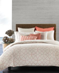 Hotel Collection Textured Lattice Linen Bedding Collection, Only at Macy's - Bedding Collections - Bed & Bath - Macy's
