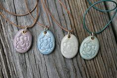 porcelain Ganesh pendant by earthformsbymarie on Etsy