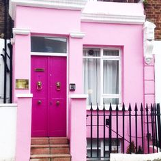 Items similar to Heart Pink Window and Door House, Wooden Wood Heart Decoration House, Fairytale Dream Pink Door Window House, Digital Photo on Etsy Cute House, Good House, Foyers, Mews House, Cottage, Happy House, Unique Doors, Things To Do In London, Pink Houses
