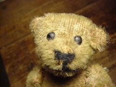 Antique Mohair Jointed Teddy Bear * shoe button eyes
