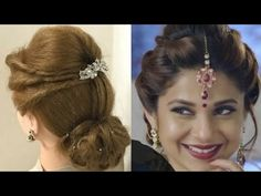 2 Beautiful Hairstyles with the puff: Easy Wedding Hairstyles Inspired by Maya in beads, Jennifer Winget, how to make wedding hairstyles for medium and long hair, easy hairstyles, simple twist hairstyles. Medium Hair Styles, Curly Hair Styles, Natural Hair Styles, Natural Curls, Natural Braids, Natural Twists, Natural Beauty, Indian Hairstyles, Trendy Hairstyles