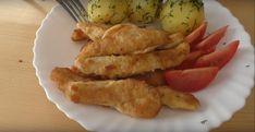 Smažené kuře v županu - VařímeDobroty.cz Chicken, Dinner, Recipes, Dining, Food Dinners, Ripped Recipes, Cooking Recipes, Cubs