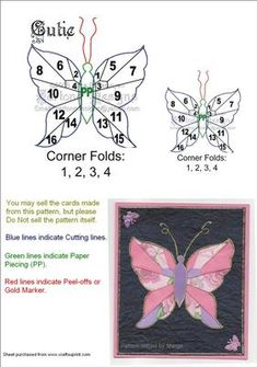 Here is another one of my butterfly designs. This pattern can be used for many different occasions and is also easy in cutting and folds.