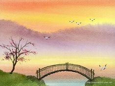 The Dreamland - Water Colour Landscape Paintings - Peaceful Rural Scene - Landscapes Painting Wallpaper 10 · Easy Watercolor . Landscape Drawing Easy, Chinese Landscape Painting, Watercolor Landscape Paintings, Landscape Wallpaper, Painting Wallpaper, Abstract Landscape, Water Colour Landscape, Pencil Sketches Landscape, Chinese Painting