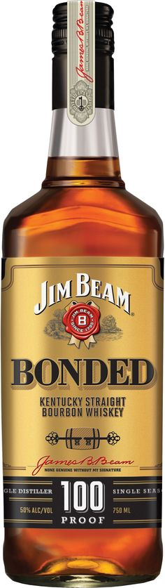 Jim Beam Bonded Kentucky Straight #Bourbon Whiskey. This #whiskey, which represents a new project by Master Distiller Fred Noe, was bottled in bond according to strict Federal regulations. | @Caskers