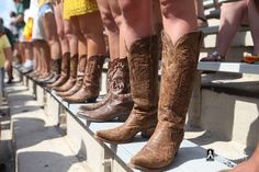 Such is football gameday fashion at #Baylor. (via Baylor's official Facebook page) #SicEm #boots