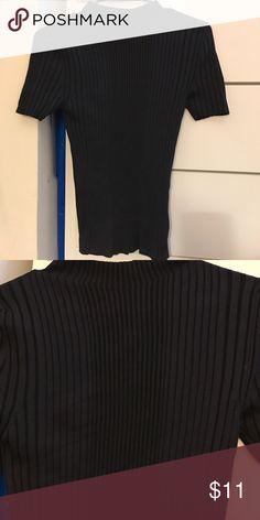 Tight knit short sleeve top Short sleeve knit shirt Zara Tops