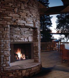 A statement making outdoor fireplace.  http://www.phillipsoilandgas.com