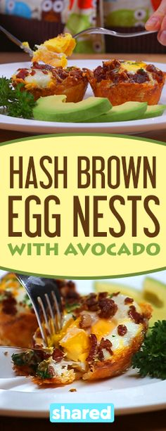 Hash Brown Egg Nests With Avocado