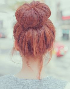 I like when sock buns look a little messy; they look fake when they're too sleek.