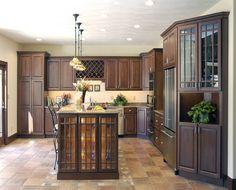 Dark Cabinets Tile Floor Similar Kitchen Layout