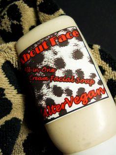 Vegan Facial Cleanser -  Natural acne face wash - Palm-free soap - 2 oz. $6.25, via Etsy.
