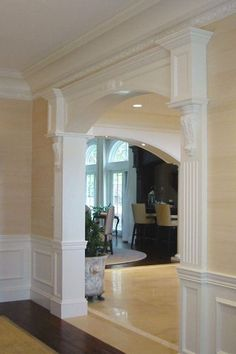 Ideas living room paint color ideas with wood trim wainscoting for 2019 Interior Columns, Interior Trim, Interior Design, Interior Ideas, Room Paint Colors, Paint Colors For Living Room, Bathroom Makeovers On A Budget, Budget Bathroom, School Bathroom