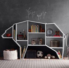 Wildlife-Inspired Shelving : Bear Bookshelf