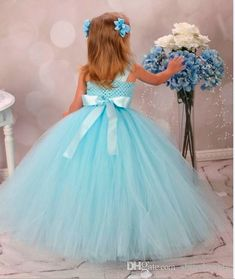 When you preparing for the wedding day don't forget about your little flower girls. Here you find cute tutu flower girl dresses: rustic, country, blue, ivory. View these tutu gowns! Tulle Ball Gown, Tulle Dress, Ball Gowns, Dress Sash, Wedding Dresses With Flowers, Flower Dresses, Little Girl Dresses, Girls Dresses, Pageant Dresses