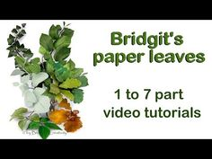 Here you will find some lovely Paper leaves which can be used to decorate your Quilling flower creations. Just have a look and get inspired with some lovely . Paper Quilling Tutorial, Paper Flower Tutorial, Paper Leaves, Paper Flowers, Paper Plants, Leaf Template, Ivy Leaf, Crepe Paper, Tissue Paper