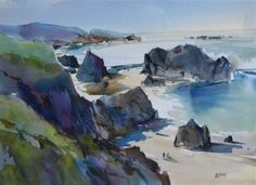Northern California Coast. 22x30 inches, watercolor on paper