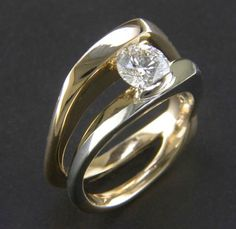 Diamond ring designed and made by James Bradshaw in Halifax NS.